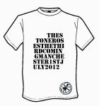 MENS THE STONE ROSES `THE THIRD COMING MANCHESTER 1ST JULY 2012` T-SHIRT.